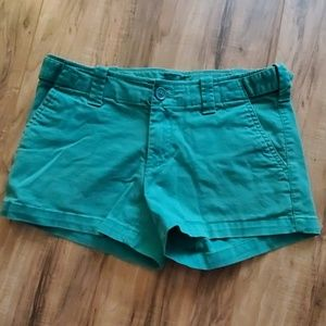 Green  Womens Shorts